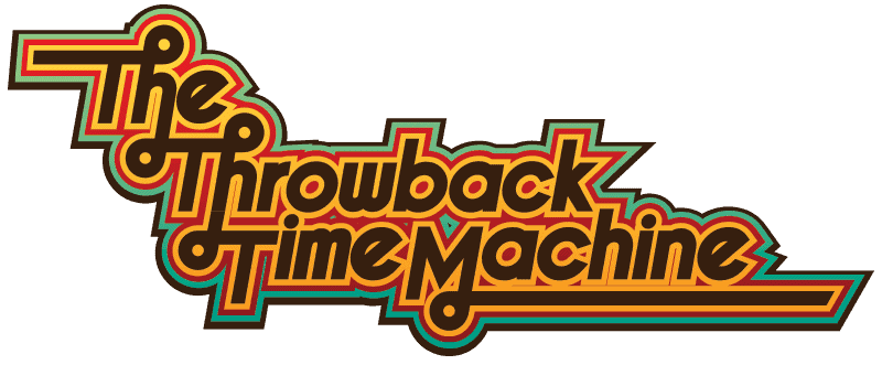 Throwback time machine logo